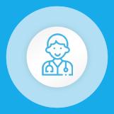 Je choisis un médecin parmi la liste des médecins référencés par spécialité. Je prends rendez-vous en ligne pour une consultation au cabinet, en video ou à domicile. Je reçois la confirmation du rendez-vous par mail.